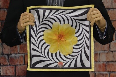 Premium Pocket Square - Yellow Flower Portal