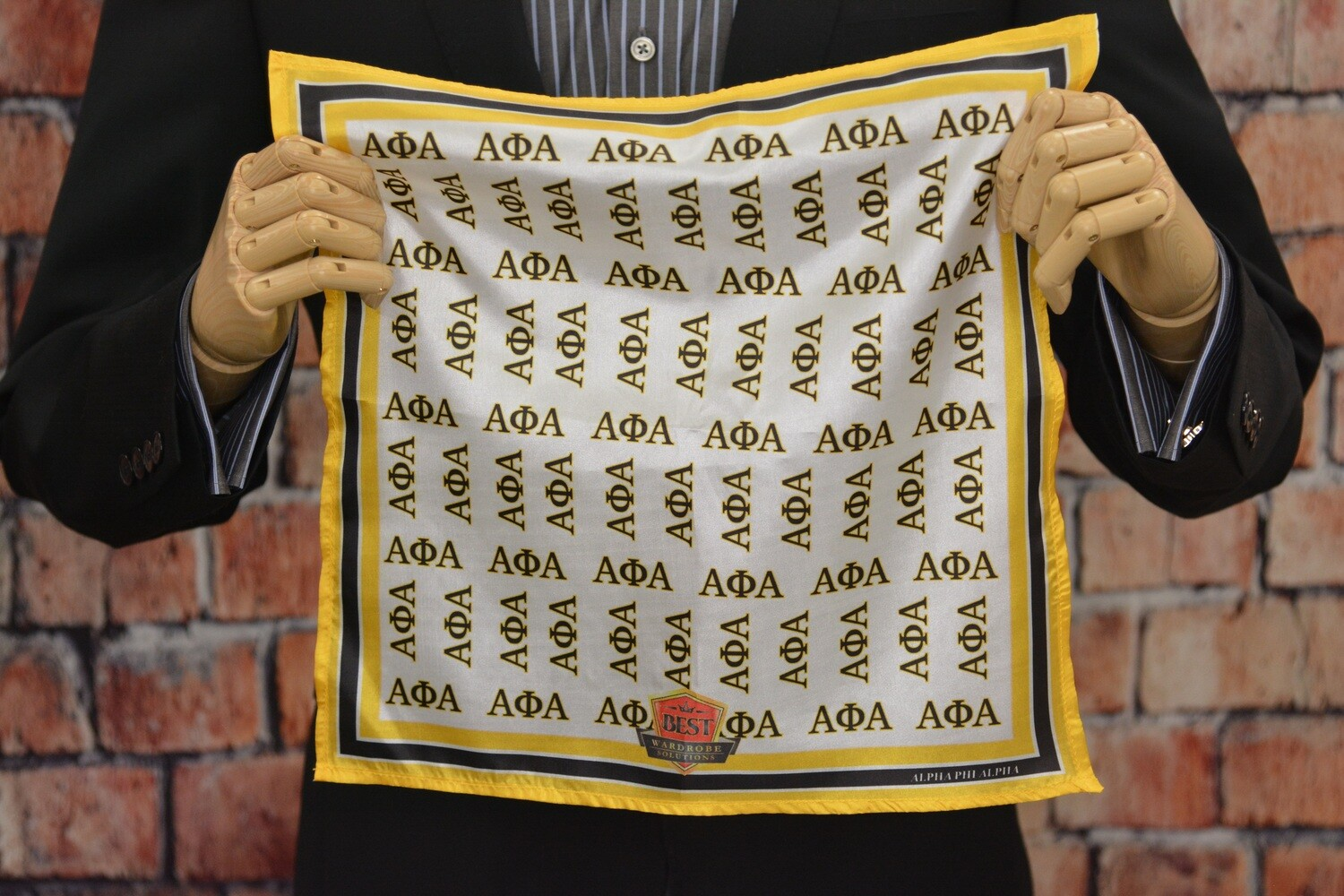 Premium Pocket Square - Alpha Greek