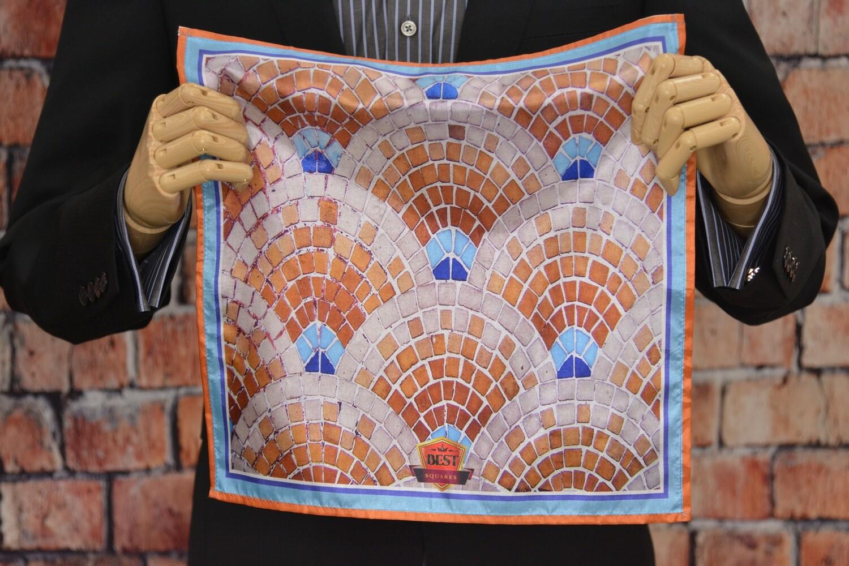 Premium Pocket Square - Brick Tapestry
