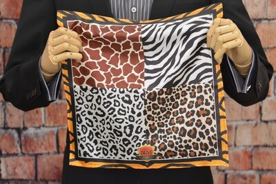 Premium Pocket Square - Wild Kingdom Window Paine