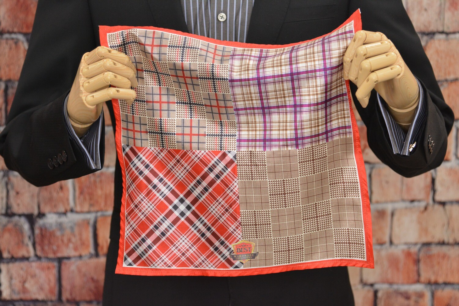Premium Pocket Square - Plaid Window Paine