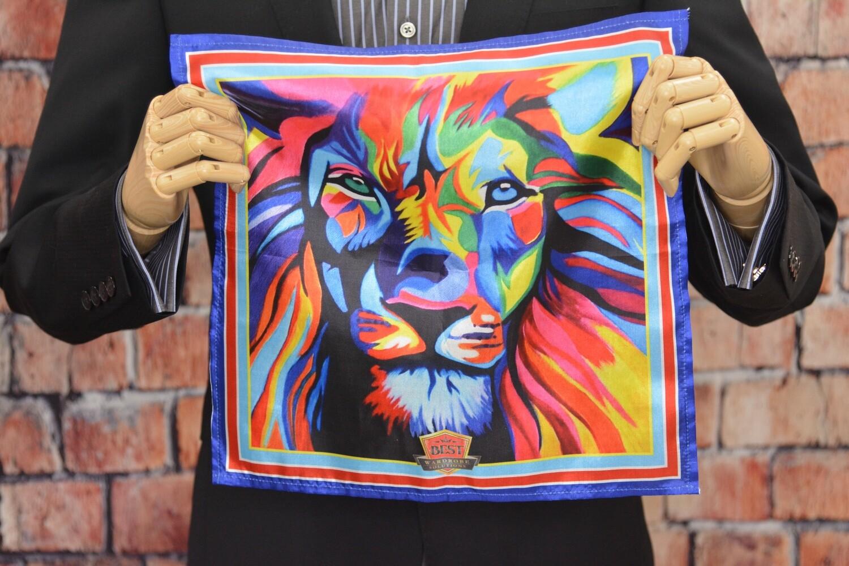Premium Pocket Square - Multi Lion Head