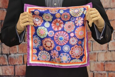 Premium Pocket Square - Flower Power