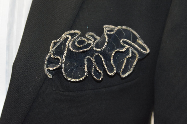 Pocket Round - Navy Silk
