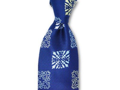 Necktie Set - Navy Square Dalion