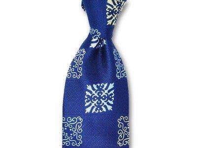 Necktie Set - Navy Square Dalion