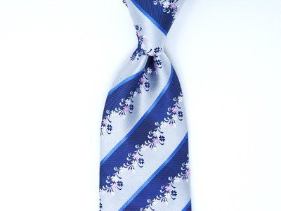 Necktie Set - Blue Flower Hedges