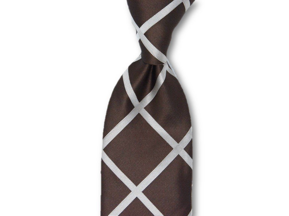Necktie Set - Brown Window Pain