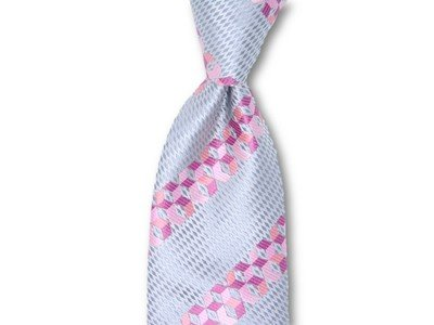 Necktie Set - Cobalt Pink Matrix