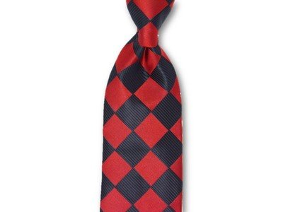 Necktie Set - Red Black Checkers