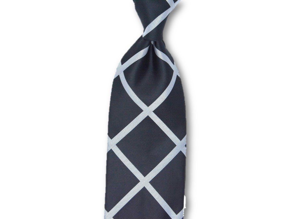 Necktie Set - Black Silver Window Pain