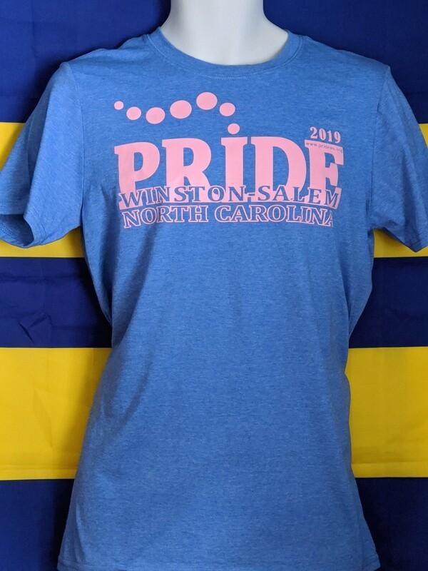 2019 Pride Winston-Salem T-Shirt - Lt Blue/Pink