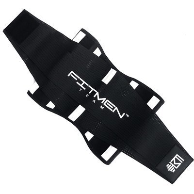 MEN - FMT Fitness Belt - WHITE BARS II
