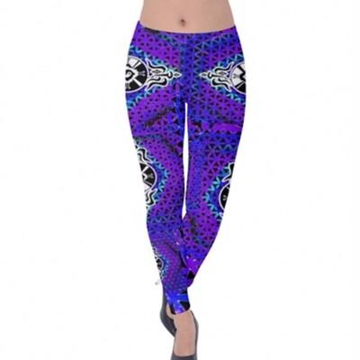 Velvet Purple Star*Gate Leggings
