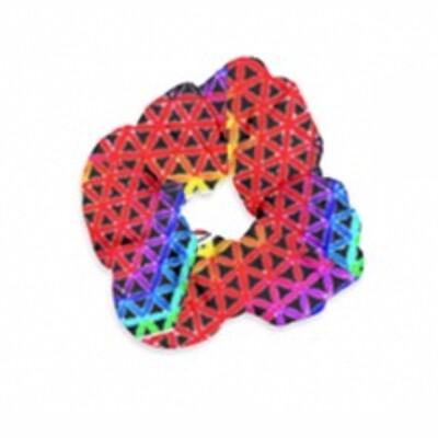 Red Star*Gate  Super Size Velvet Scrunchie