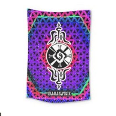 Purple Rose Star*Gate Tapestry