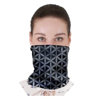 Grey Flower Rainbow Neck Band ~Face Cover ~ Gator