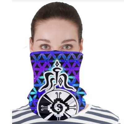 Purple Star Gate _ Neck Gator ~ Face Covering