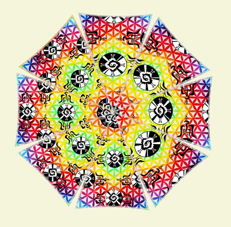 Galactic Flower Power AUMbrella **SELECT SIZE BELOW**  click on choice to see price