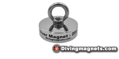 200kg Pull - Magnet and Eye bolt