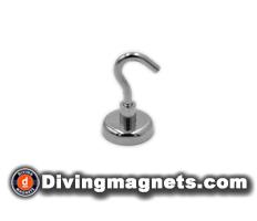 Magnetic Hook - 32mm dia - 34kg Pull