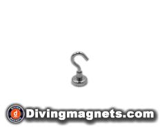 Magnetic Hook - 16mm dia - 5.5kg Pull