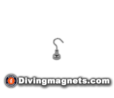 Magnetic Hook - 12mm dia - 3.2kg Pull