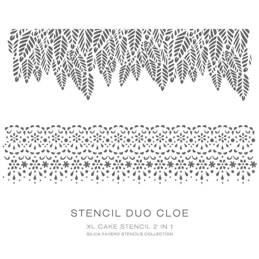 """Stencil """"Duo Cloe"""" 2x1"""