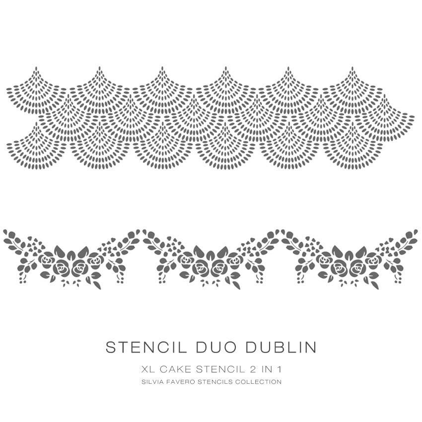 """Stencil """"Duo Dublin"""" 2x1"""