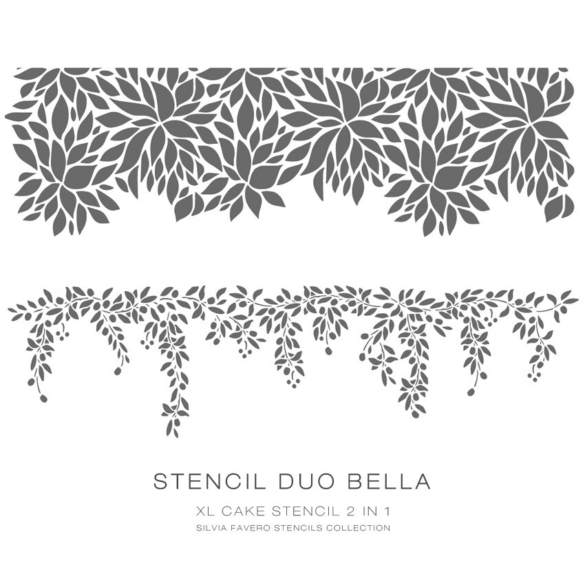 "Stencil ""Duo Bella"" 2x1"
