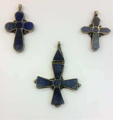 Cobalt Gold Trimmed Cross