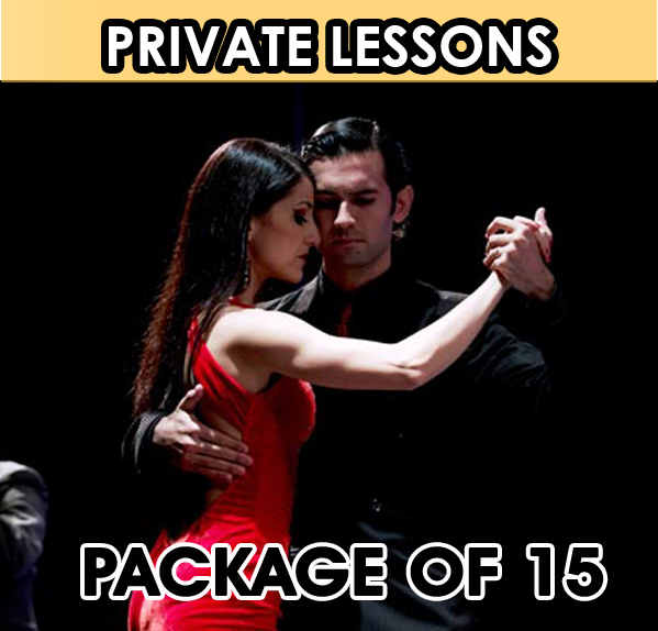 Private Lesson. Package of 15 Lessons