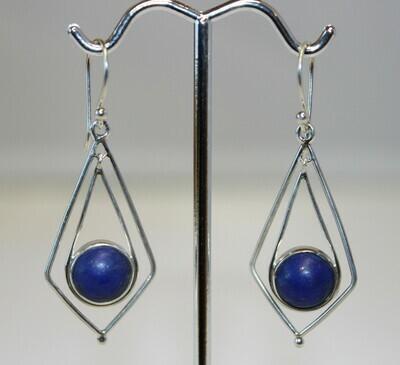 Diamond Lapis Earrings