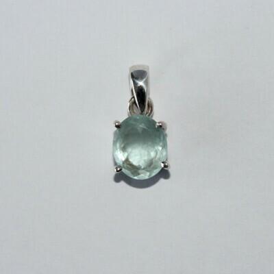 Faceted Aquamarine Pendant