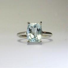 Faceted Aquamarine Ring