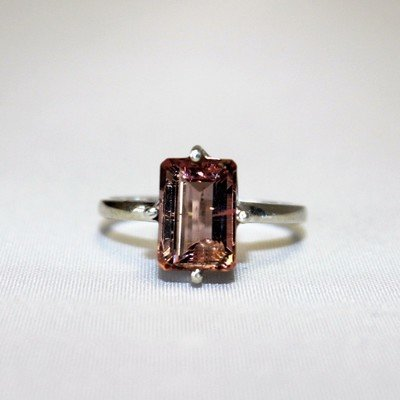 Faceted Pink Tourmaline Ring