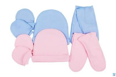 Комплект шапочка + варежки + носки