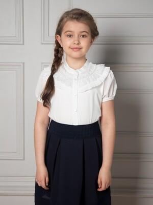 Блузка для девочки с короткими рукавами
