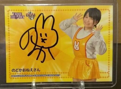 Nodoka-Oneesan (Nodoka Tenma) 2017 BBM Joshi True Heart Autograph /95