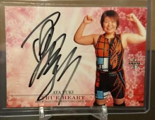 Aya Yuuki 2011 BBM Joshi True Heart Autograph /100