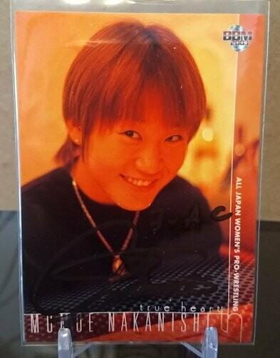 Momoe Nakanishi 2003 BBM Joshi True Heart Autograph /103