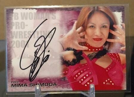 Mima Shimoda 2001 Future Bee Autograph