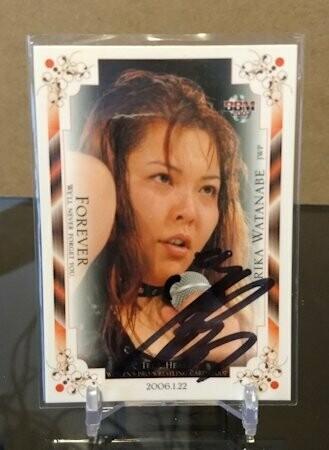 Erika Watanabe 2007 BBM Joshi True Heart Autograph /100