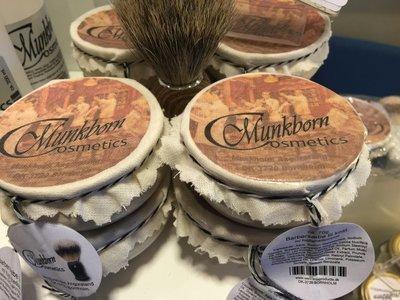 Munkborn barbersæbe i porcelænskål