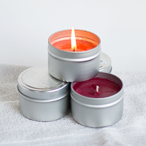 3.5 oz Soy Candle Tin Container