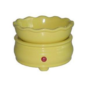 Yellow Candle Warmer/Melt Combo