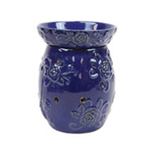Tall Blue Floral Warmer