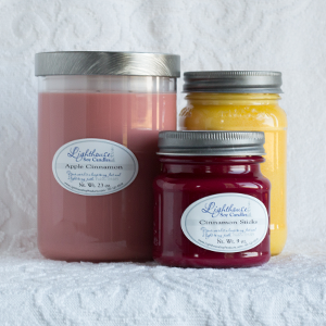 14 oz Soy Candle Square Mason Container
