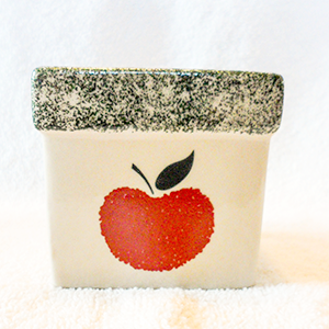 3.5 oz Soy Candle Square Apple Crock Container