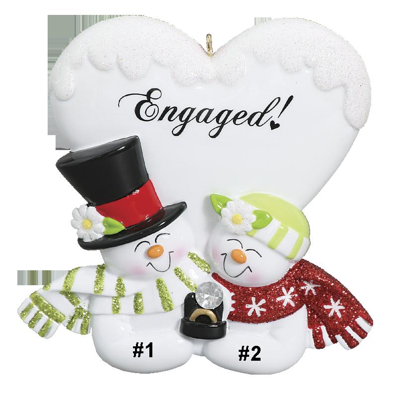Snowman Engagement Couple